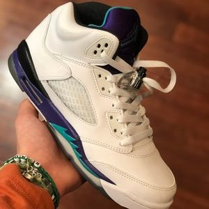 Jordan 5 Grape White